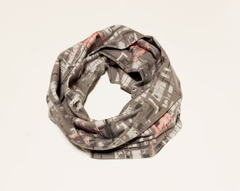 Baby clothes, kids infinity scarf, baby boy scarf, baby girl, baby girl scarf, toddler infinity scarf, gray graffiti scarf, kids clothing