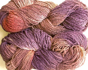 Organic Cotton Boucle, hand painted, 225 yds - Pheasant