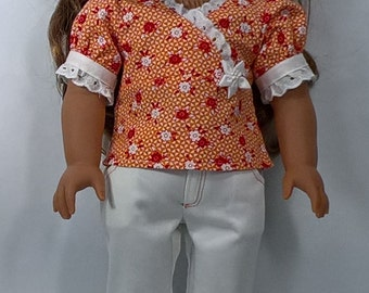 Faux Wrap Top and Capri Pants for 18 inch Dolls such as AG