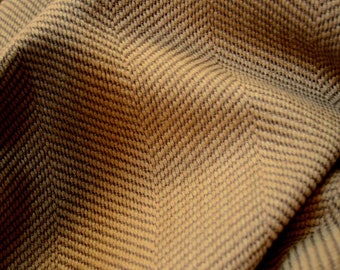 Brown Herringbone Upholstery Fabric