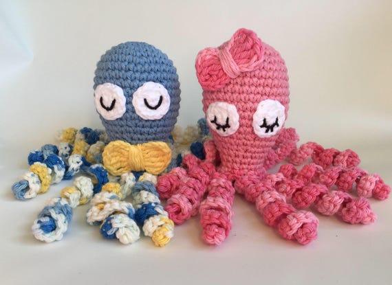 Pattern Only Crochet Preemie Octopus Preemie Comfort Nicu