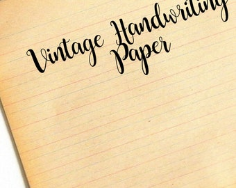 Handwriting Paper. Vintage Lined Paper. School Paper. Writing Paper. Junk Journal Paper. Vintage Paper. Old Writing Paper. Notebook Paper.