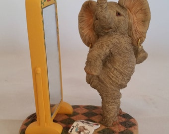 Miss Martha Whimsical Elephant - Caroline - Elephant Collectible - Gift to bring a smile - Chubby Charmers -