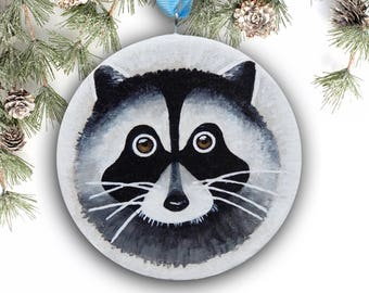Christmas Tree Ornament, Baby Raccoon Ornament Tree Decoration, Christmas Decor, Handmade Ornament with Gift Box