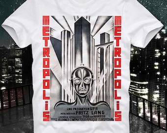 Metropolis Fritz Lang Cult Movie Sci Fi Science Fiction Retro Vintage T Shirt Tee