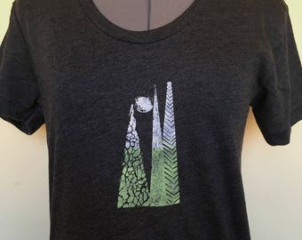 Womens T Shirt-Tree TShirt-Tree Shirt-Womens Tree Tshirt-T Shirt-For Her-Womens Tshirt-Screenprint