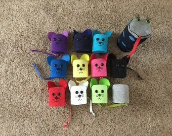 10 Hand Puppets Mice and Snakethese