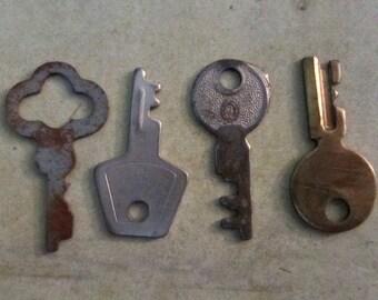 Vintage old keys- Steampunk - Altered art B28