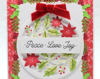 Peace Love Joy Christmas Card