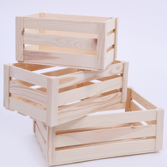 Wooden Storage Crates. 3 Sizes. Storage Crates. Wooden Crates. Wooden Crate.  Wooden Crate Box. Wooden Crate Wedding. Wooden Crate Prop. From  Woodenboxshop ...