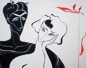 Original Drawing, Temptation