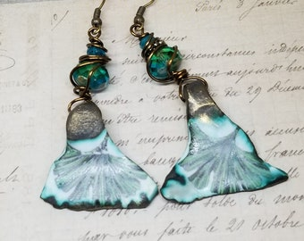 Ginkgo Leaf Earrings, Ginkgo Leaves, Ginkgo Jewelry, Gingko Leaf Earrings, Gingko Jewelry