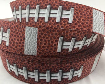 """Football Grosgrain Ribbons,Football ribbons. Available in 5/8"""", 7/8"""" or 1.5"""""""