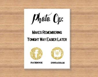 Photo Op, Photo Sign, Social Media Sign