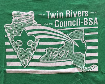 Vintage 1991 Twin Rivers Council NY Tshirt
