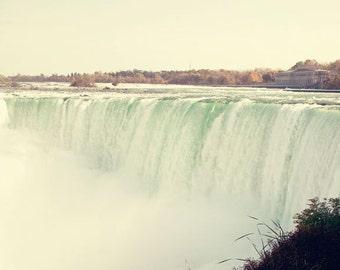 travel photography niagara falls canada horseshoe falls blue decor waterfall landscape fine art photograph View of the Falls