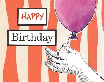 Happy Birthday (Purple Balloon)