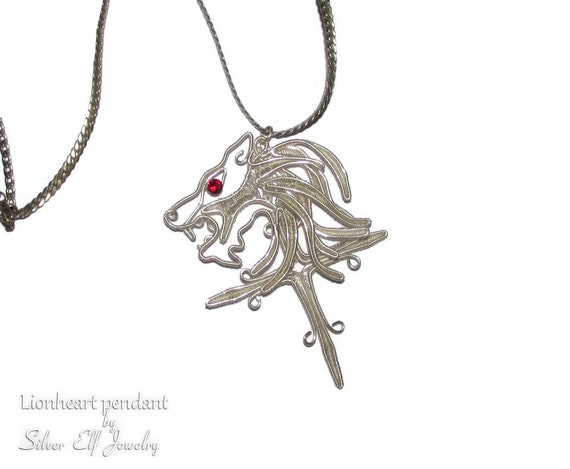 Lionheart Pendant Lionheart pendant wire wrapped replica final fantasy jewelry audiocablefo