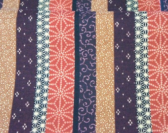 Kimono print color block patchwork style print  Japanese fabric half meter 19.6 by 42 inches