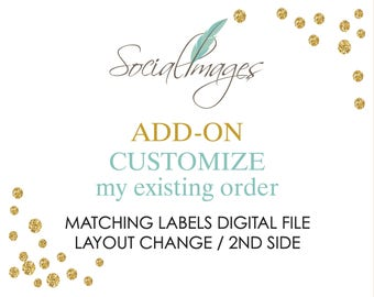 ADD - Customize existing order DIGITAL  file -
