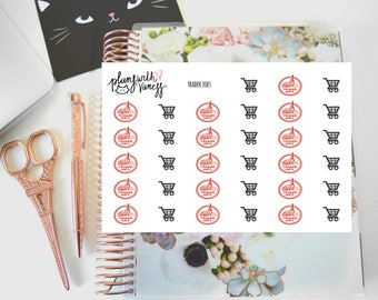 Trader Joe's (Grocery Shopping, TJ) Hand Drawn Planner Stickers