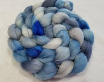 Merino/Baby Alpaca/Silk Roving-50/30/20-Hand Dyed/Painted - 4 oz - Spinning Fiber