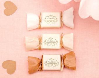 Romantic wedding soap favor (box of 12 pcs)