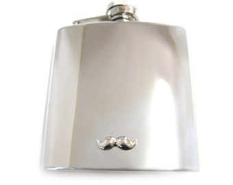 Mustache 6 oz. Stainless Steel Flask