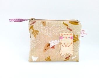 coin purse, cat coin purse, women coin purse, cute coin purse, cat fish pouch, zipper pouch, coin pouch, kawaii purse, cat purse