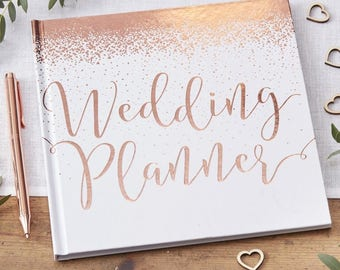 Wedding book etsy rose gold foiled wedding planner rose gold wedding planner wedding book bride gift junglespirit Image collections