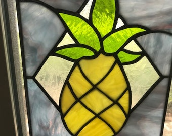 Pineapple Stained Glass Panel
