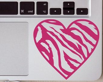 Zebra Print Heart Vinyl Decal, Zebra Print, Vinyl Decal, Decal, Car Windows, Laptops, Tablets, Water Bottles, Tumblers, Flasks