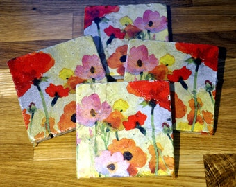 Poppy Natural Stone Coaster