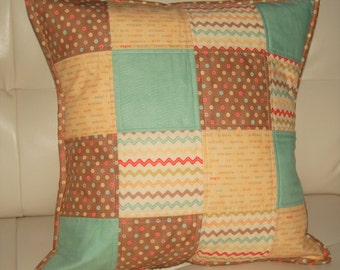 Patchwork Quilted Pillow Cover