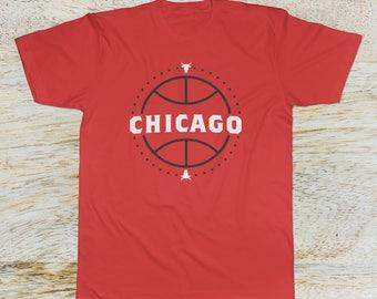 Chicago Bulls Basketball Fan T-Shirt 50/50 blend (Fan Made)