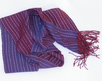 Burgundy And Blue - Night Reflective Scarf