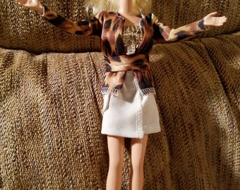 Barbie Doll Outfit / Complete Animal Print Outfit