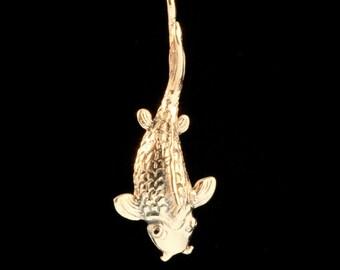 Okinawa Koi Fish Charm Necklace Fish Jewelry Fish Necklace Japanese Fish Good Luck Jewelry