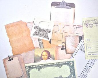Hipster Kraft Paper Ephemera, Letter Paper