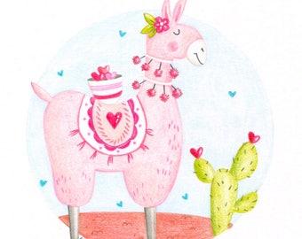 Llama Tell You Valentine PDF printable