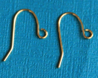 100 pcs of gold plated earrings hook 20X11mm