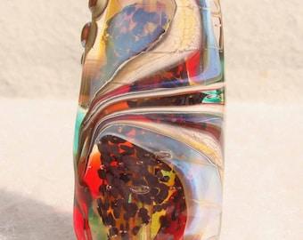 CATHARSIS Handmade Lampwork Art Glass Focal Bead - Flaming Fools Lampwork Art Glass  sra