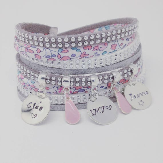 ★ Artwork gift idea personalized ★ Liberty multi strand with 3 prints custom by Palilo Jewelry Personalized Bracelet