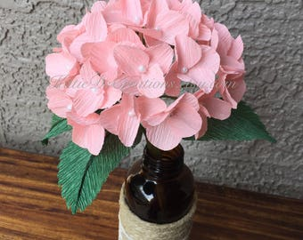 Crepe paper bougainvillea stem fuchsia bougainvillea flower pink hydrangea crepe paper hydraqngea stem white hydrangea flower single stem crepe paper mightylinksfo Gallery