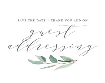 Guest Addressing on Envelopes - Save the date and Thank you Add On