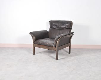Norwegian Leather Armchair