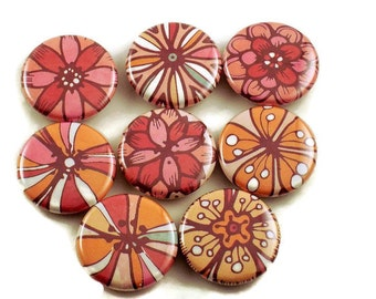 Set of 8 Button Magnets in Charisma  with Storage Tin (BMT110)