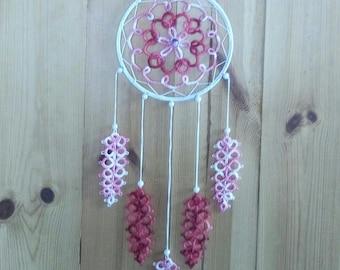 Frivolous pink and white lace Dreamcatcher