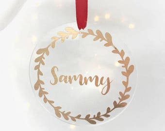 Personalised Christmas Gift, Personalised Gift, Tree Ornament, Christmas Decoration, Christmas gift idea, Stocking Filler, xmas Ornaments,