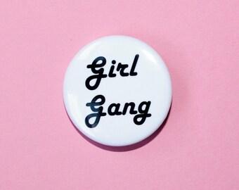 girl gang flair button